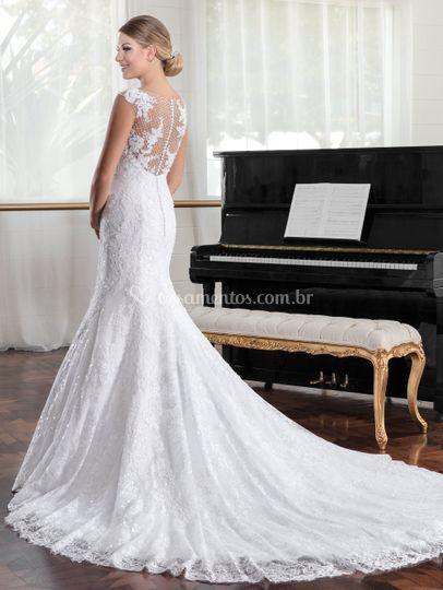 Vestido noiva costas aberta