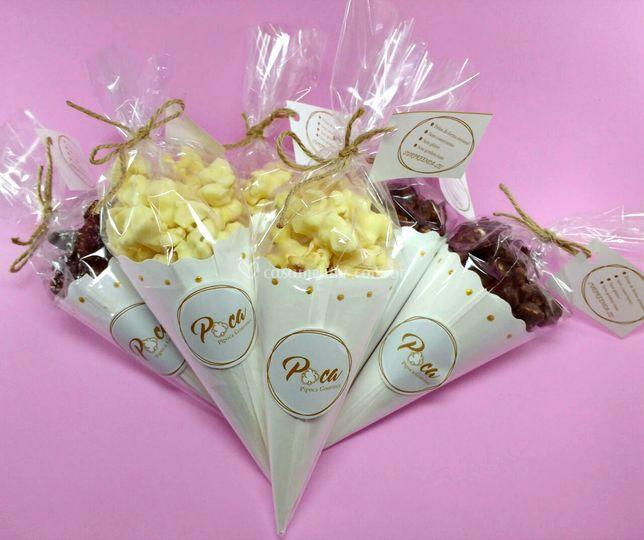 Cones de chocolate
