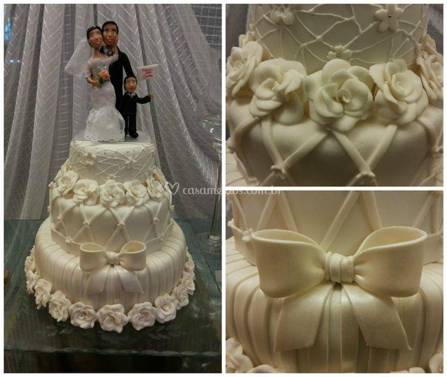Bolo de casamento luxo de Desire Cakes & Cia
