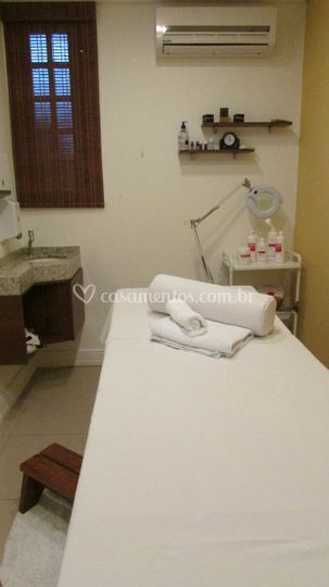 Sala de estética e massagem