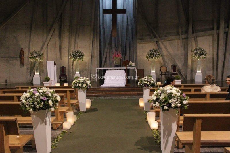 Flores para a igreja