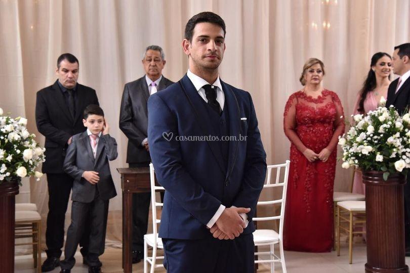 Terno Azul para noivos