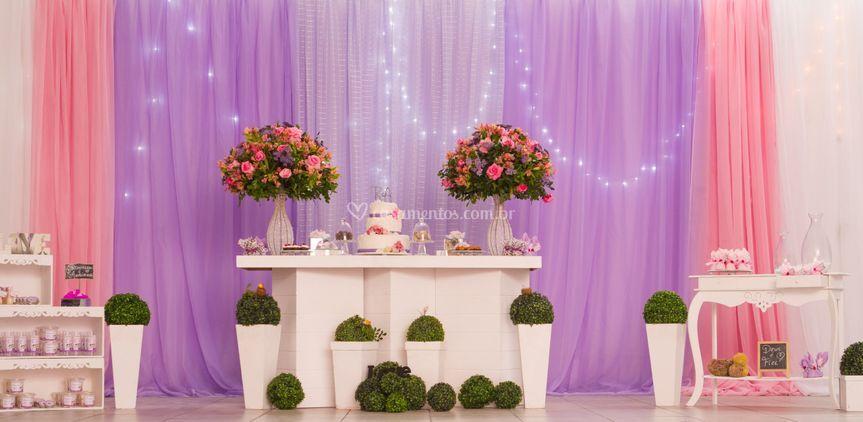 Bolo, doce, buffet, decoração