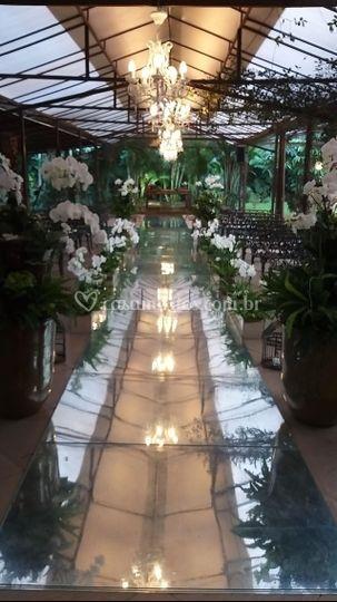 Cerimônia orquídeas naturais
