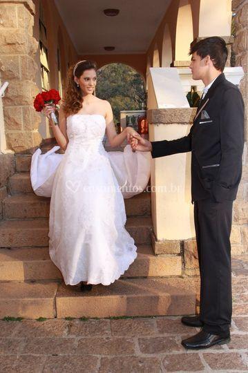 Noivos no casarão