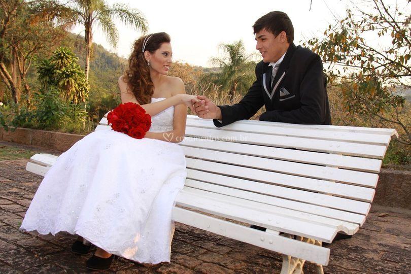 Casal na associação