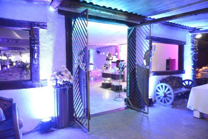 Portão do salão de festas