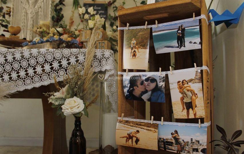 Casamento boho em casa