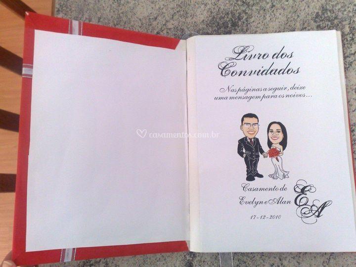 Livro de assinatura casamento