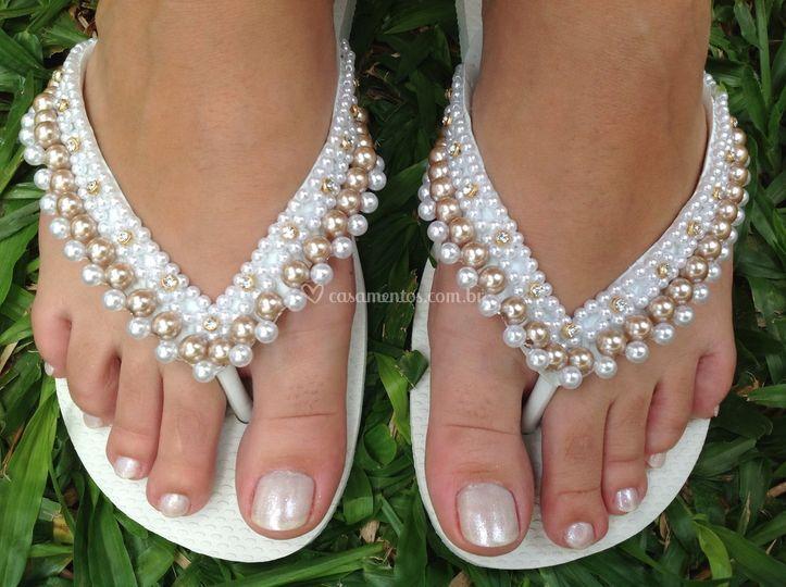 Sandálias com Perolas