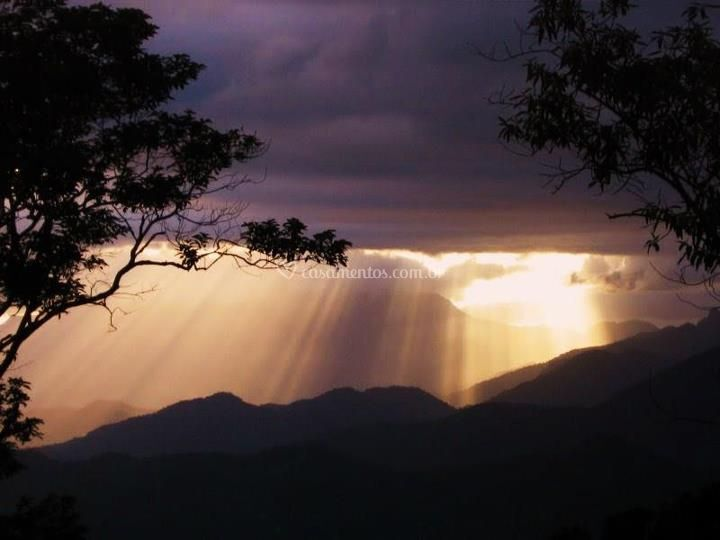 Vista  pôr -do-sol
