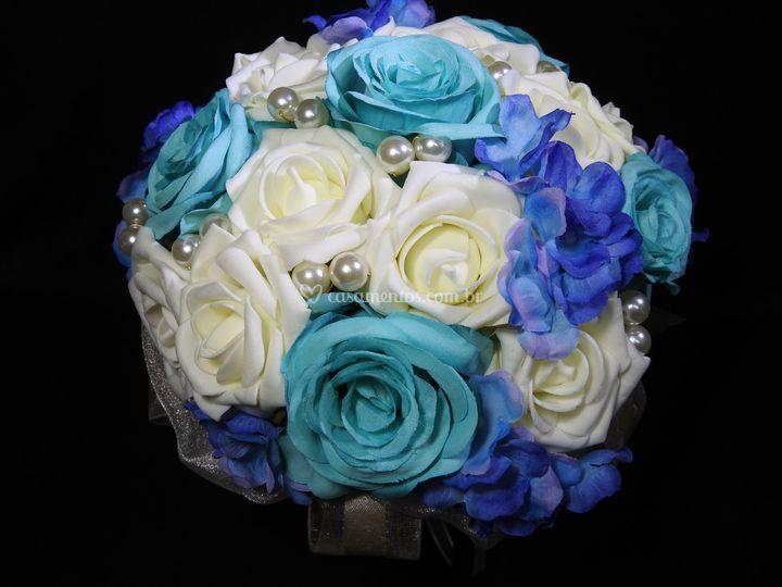 Off white, azul Tiffany e azul