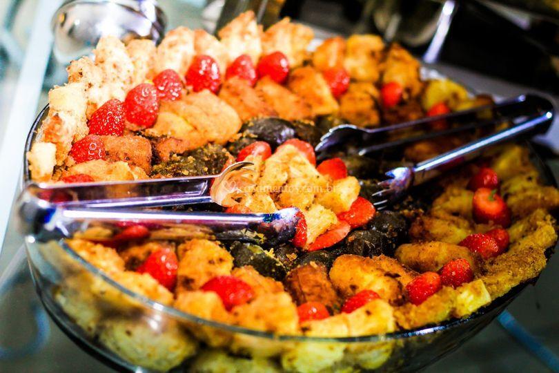 Frutas a Milanesa