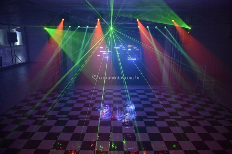 Pista de Dança com lasers