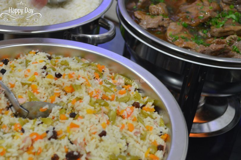 Buffet ( arroz a grega)