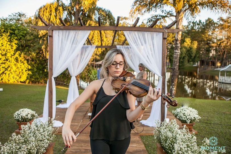 Cortejo com violino
