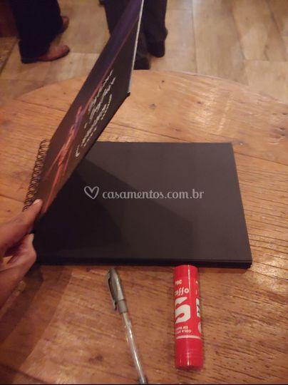 Lindo guest book personalizado