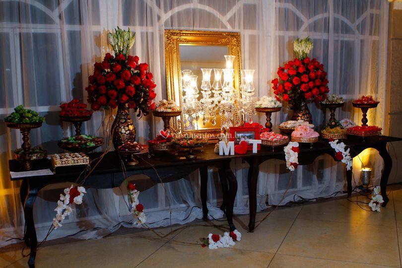 Decoração - mesa de doces