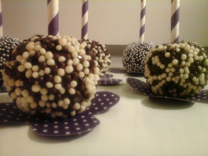Cake pop de chocolate