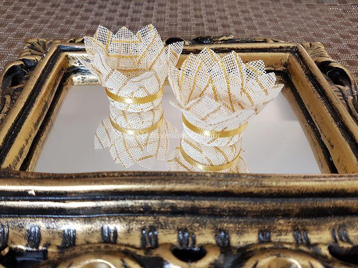 Forminhas de doces Creme/dourada cb003-l