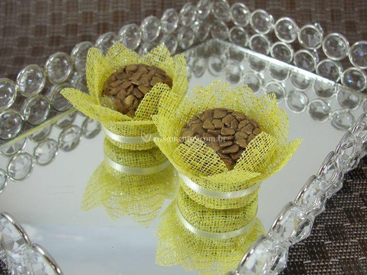 Forminhas de doces Amarela cb002-l
