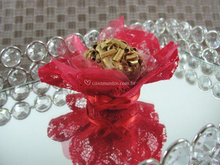 Forminhas de doces Renda vermelha cr004