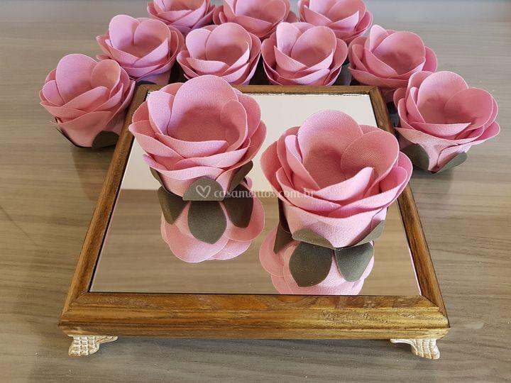 Forminhas de doces Rosa chá rb005