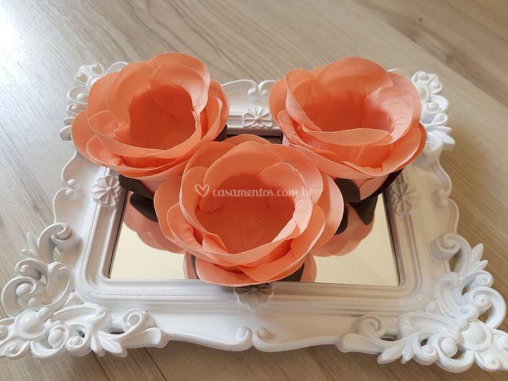Forminhas de doces Salmão/laranja rb013