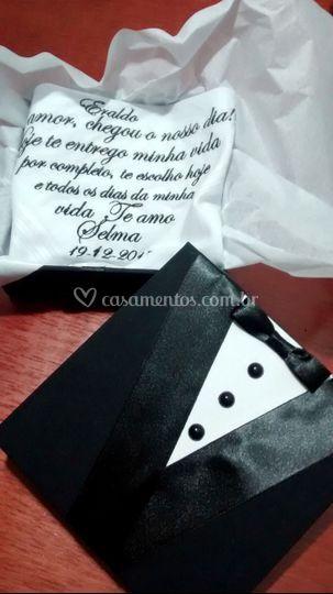 Caixa lenço para noivo