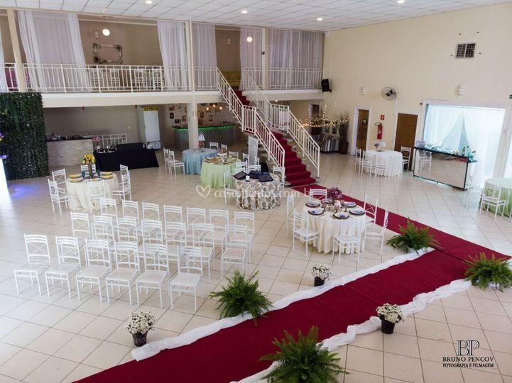 Montagem passarela noiva