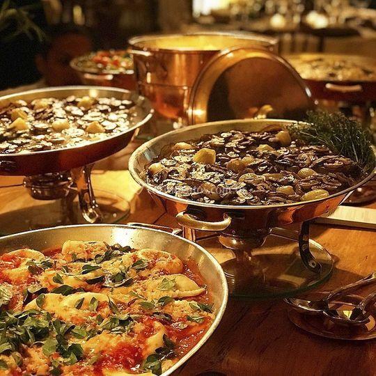 Sample hot buffet
