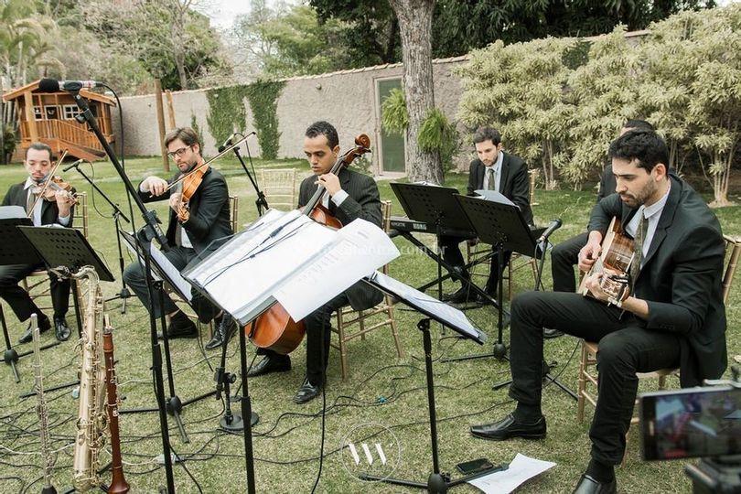 Formação com oito músico