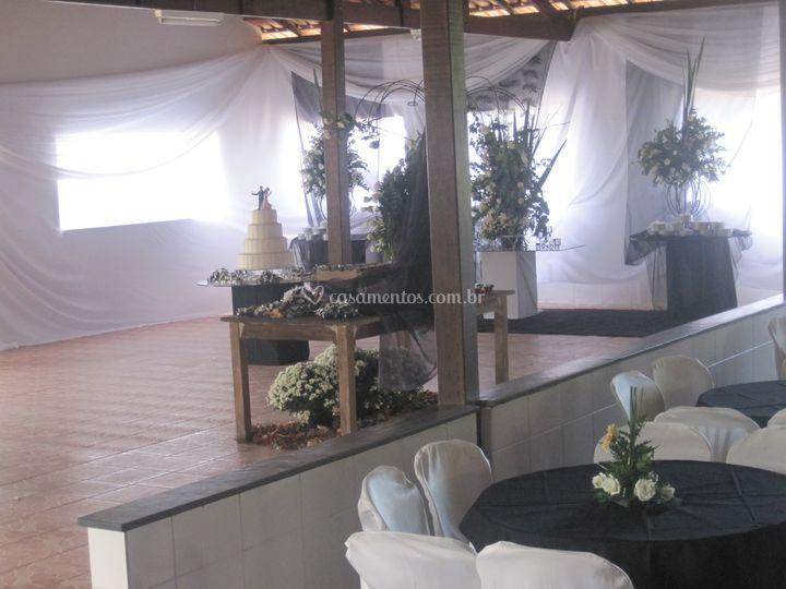 Salão para decorações