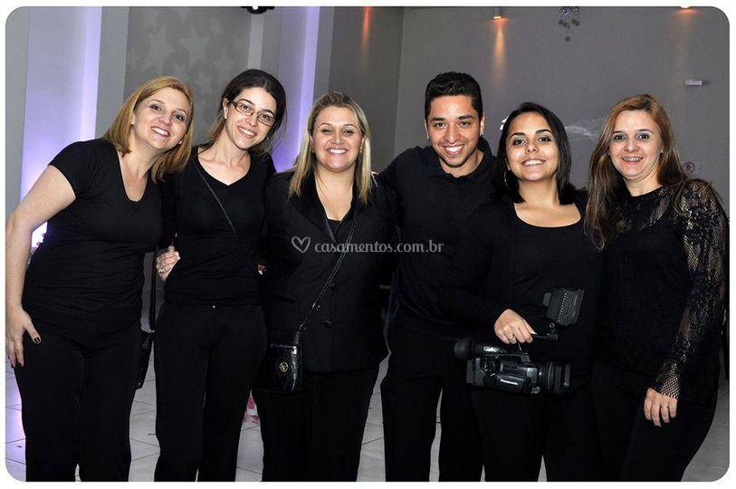 Nossa equipe e equipe de foto