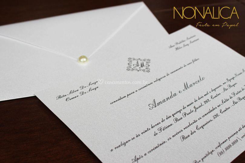 Convite Amanda - Prata