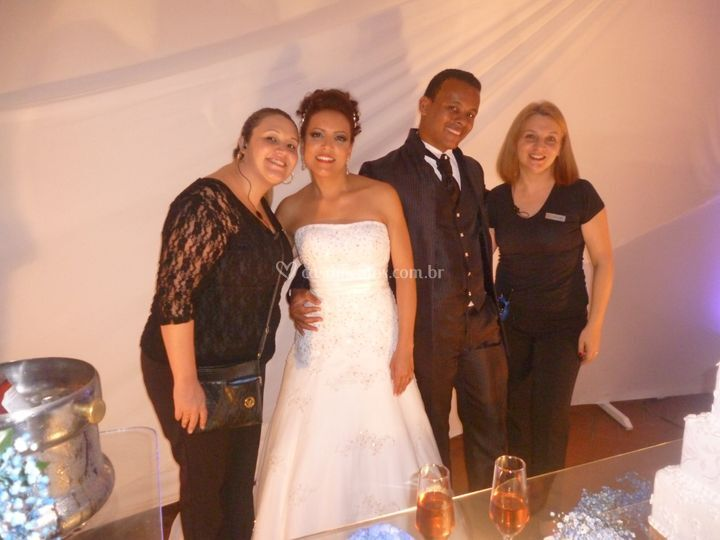 Nossa equipe e os noivos