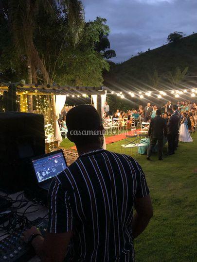 Cerimônia a noite