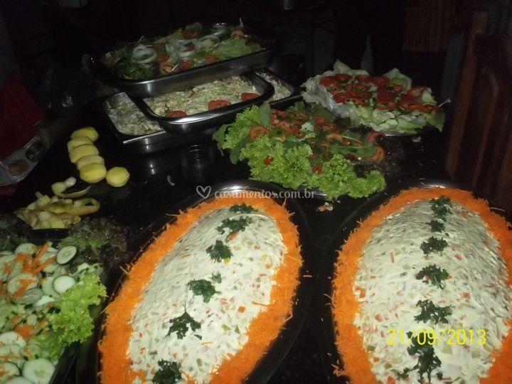 Diversas saladas