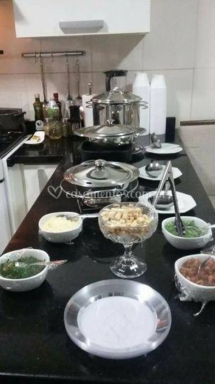 Alguns dos pratos oferecidos