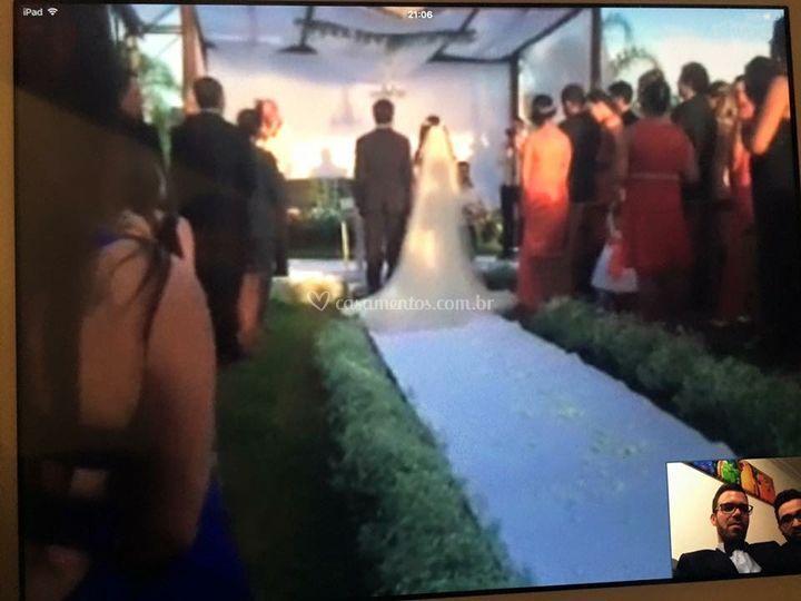 Cerimônia no pergolado