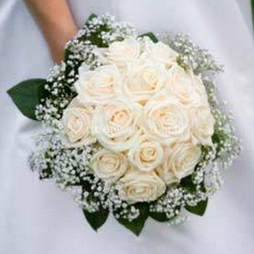 Buquê  rosas brancas
