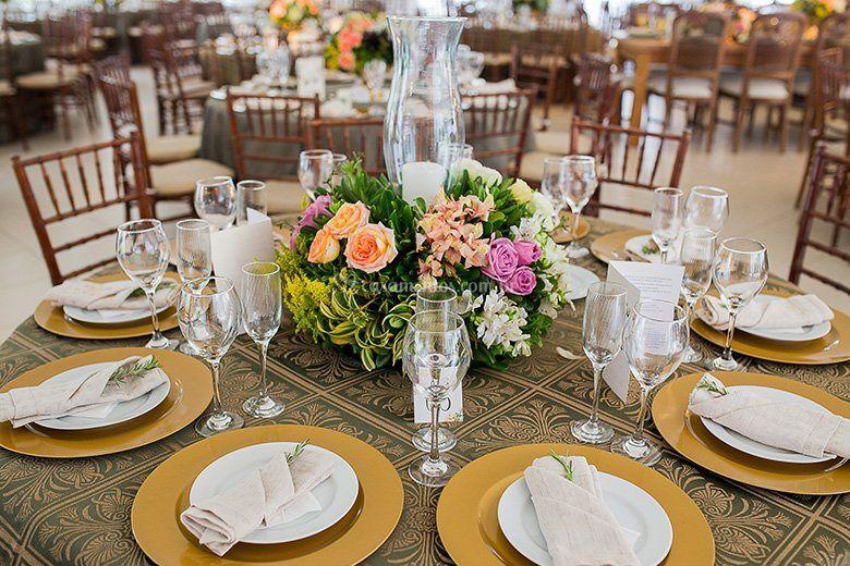 Mesa com do donsela de CR Decora Foto 18 # Como Decorar Mesa De Jantar Para Casamento