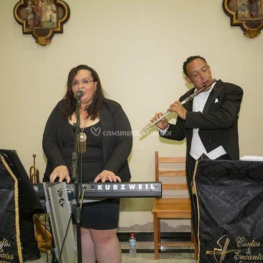 Flauta e teclado