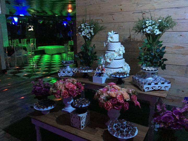 Mesa do bolo- escolha o local