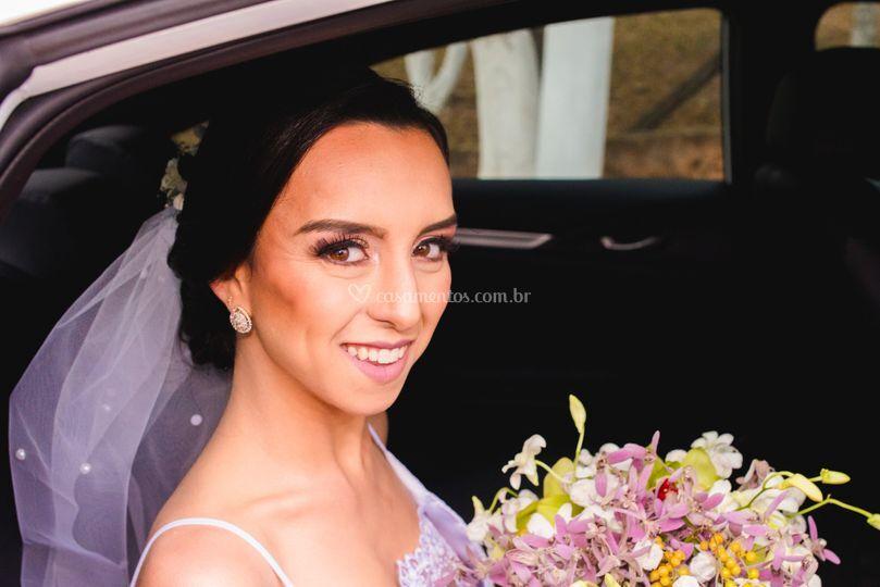 Bárbara chegando no casório.