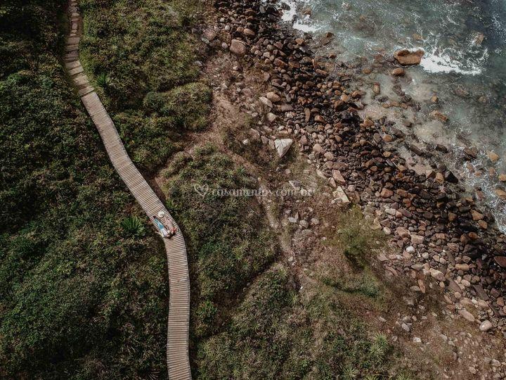 Drone na praia do rosa