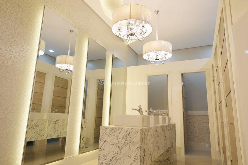 Banheiro feminino casa sales