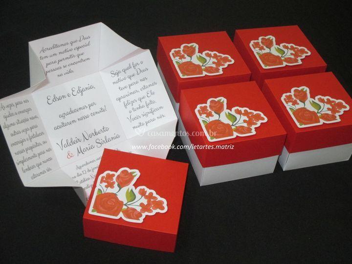 Caixa Convite Padrinhos 8x8