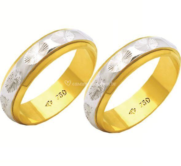 Ouro branco e amarelo