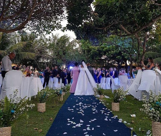 Casamento ao ar-livre